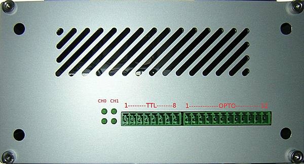 Front panel of the OSADL Latency Box