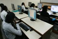 Strathmore students at a computer lab at the University