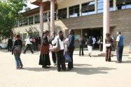 The entrance to Strathmore University's administration block