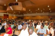 Strathmore students and staff at a function in the auditorium