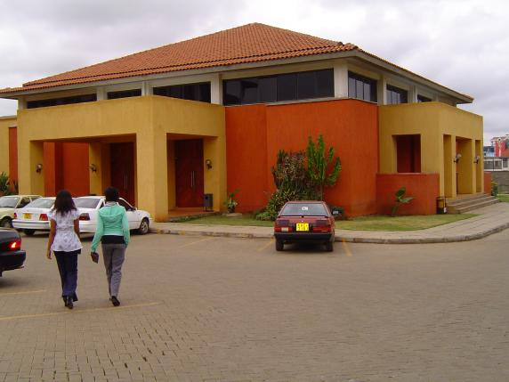 The outside of Strathmore University's auditorium
