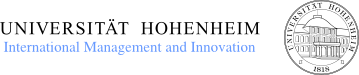 University of Hohenheim, Research Unit Internationl Management and Innovation